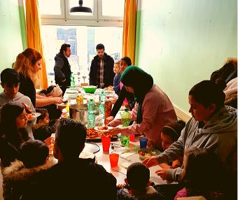 gemeinsames Kochen im Elterncafe